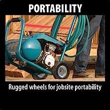 portability rugged wheels for jobsite portable
