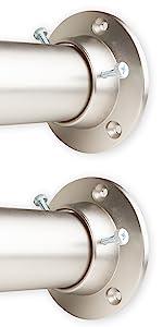 "1.5"" Rod with Wall Socket - Satin Nickel"