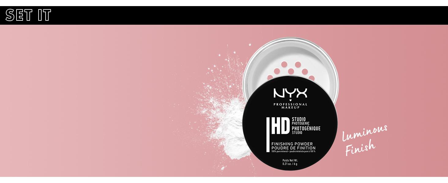 nyx hd studio finishing powder face setting powder
