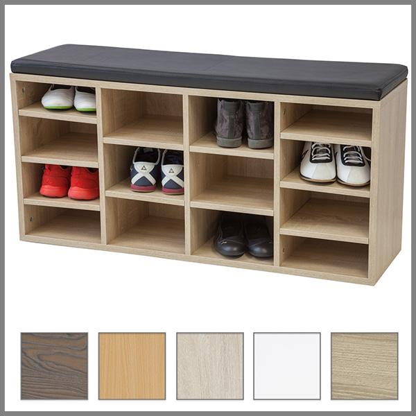 albatros schuhschrank mit sitzkissen vincent weiss. Black Bedroom Furniture Sets. Home Design Ideas