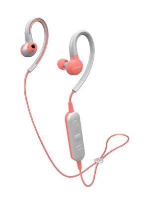 Pioneer SE-E6BT(P) Auriculares deportivos inalámbricos in-ear (6 horas de reproducción, Bluetooth, IPX4, Pioneer Notification App), rosa