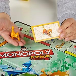 Monopoly Junior Version Espanola Hasbro A6984546 Amazon Es