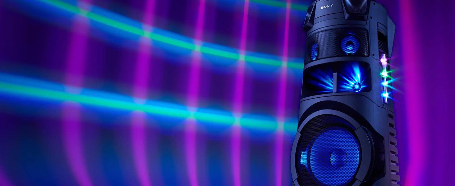 Sony MHC-V83D - Altavoz de Alta Potencia Bluetooth para Fiesta, con luz y Sonido omnidireccional