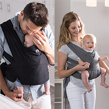 Boppy Comfyfit Baby Carrier Heathered Gray