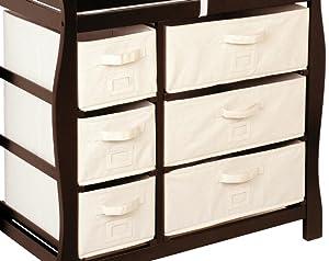 Amazon.com: Mesa cambiadora Badger Basket con seis cestas ...