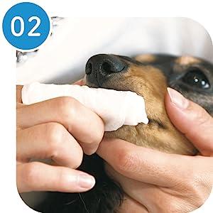 ペット犬猫歯みがきシート歯垢口臭綺麗 にふきとる