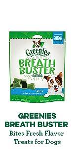 greenies breath busters, greenies original dental dog treats, fresh breath, dog treats
