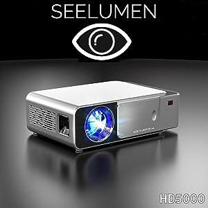 Proyector Full HD 1080P, Seelumen HD5000 (1920x1080) 3.700 lúmenes ...