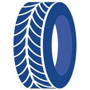blue tire