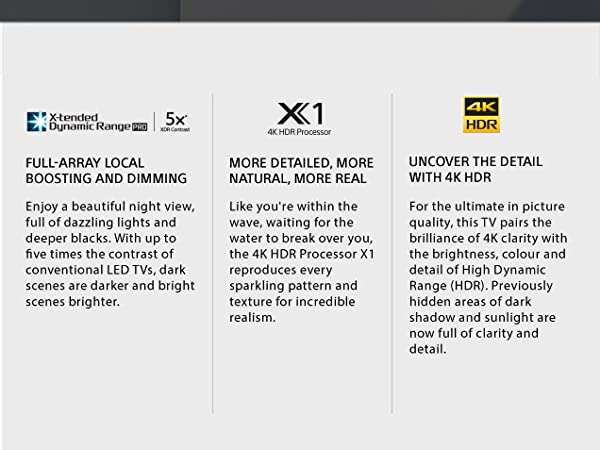 Sony XBR55X900E 55-Inch 4K UHD Smart LED TV (2017 Model), Works with Alexa