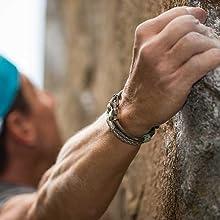 chalk climbing