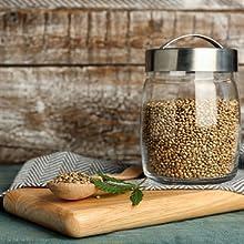 hemp seeds jar