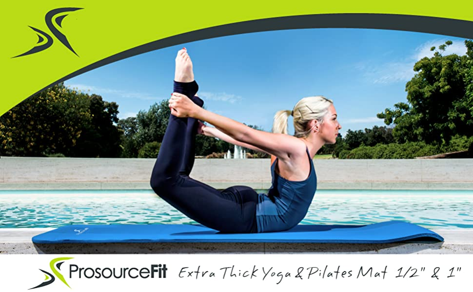 """ProsourceFit Extra thick yoga mat 1/2"""" and 1"""""""