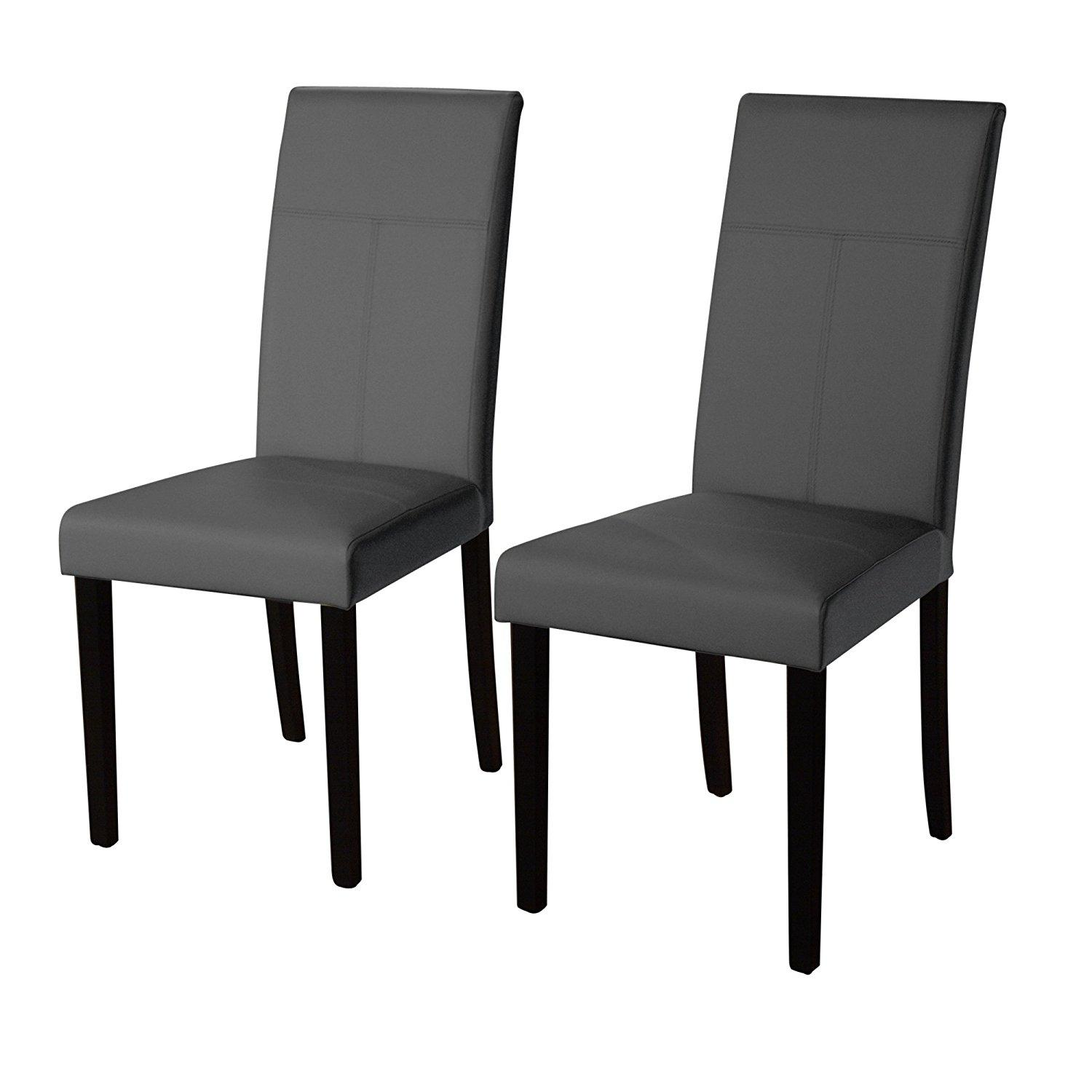 Target Dining Room Chairs: Amazon.com: Target Marketing Systems Set Of 2 Upholstered PU Leather Bettega Parsons Dining