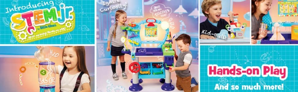 d18f762314 Amazon.com  Little Tikes STEM Jr. Wonder Lab Toy with Experiments ...