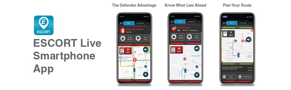 escort radar, escort live app, escort, radar detector