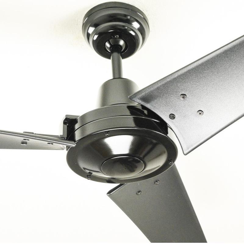 Pepeo Vourdries Ventilador de techo de diseño industrial, negro ...