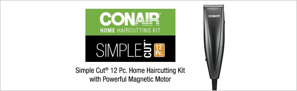 Conair hair cutter; Conair hair trimmer; home hair cutting kit; cordless hair trimmer