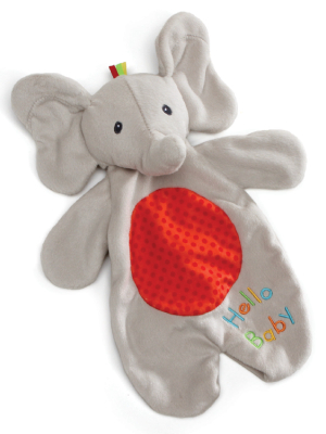 """Baby GUND Flappy the Elephant Lovey Plush Blanket and Puppet, Gray, 11.5"""""""