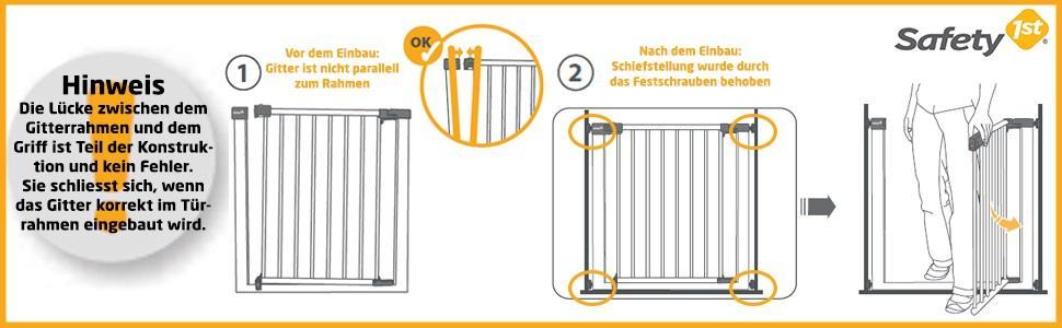safety 1st quick close st treppenschutzgitter extra sicheres metall t rschutzgitter zum klemmen. Black Bedroom Furniture Sets. Home Design Ideas