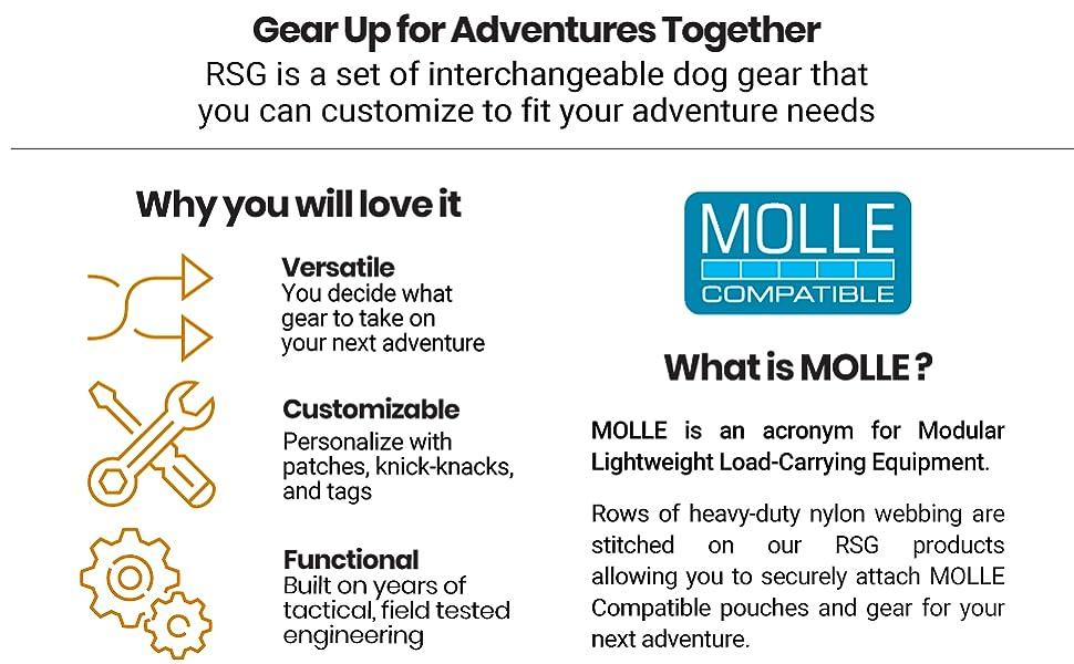 Adventure travel customizable molle