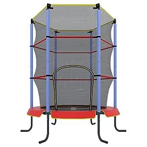 ultrasport kinder indoor trampolin jumper 140 cm spa und fitnesstrampolin f r kinder ab 3. Black Bedroom Furniture Sets. Home Design Ideas