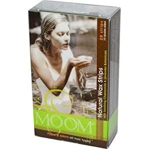 Moom, Natural Wax Strips, with Soothing Chamomile amp; Lavender Botanicals