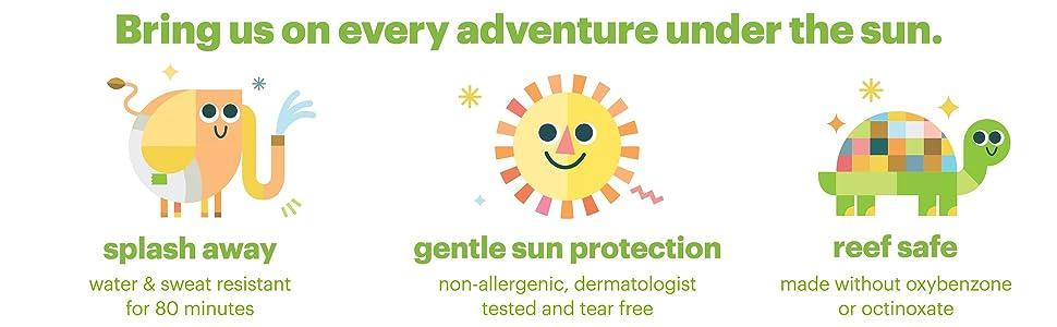 kids sunsreen, baby sunscreen, reef safe sunscreen