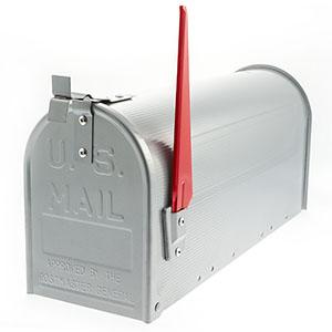 US Aluminium brievenbus