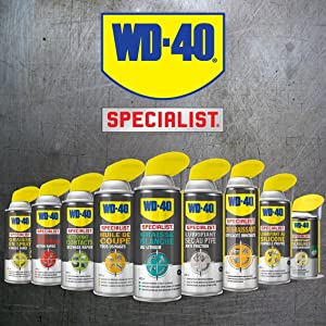 WD-40 Specialist, huile de coupe, lubrifiant, graisse, dégraissant, ptfe, nettoyant contacts, WD40
