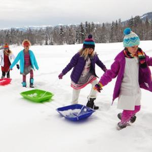 Amazon Com Lucky Bums Snow Kids Winter Toboggan Sled