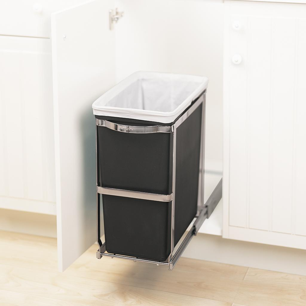 Amazon.com: simplehuman Under-Counter Pull-Out Trash Can ...