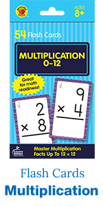 Multiplication flash cards, 54 count