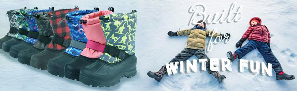 colorful snow boots, plaid, camo, floral, fun patterns, bright colors
