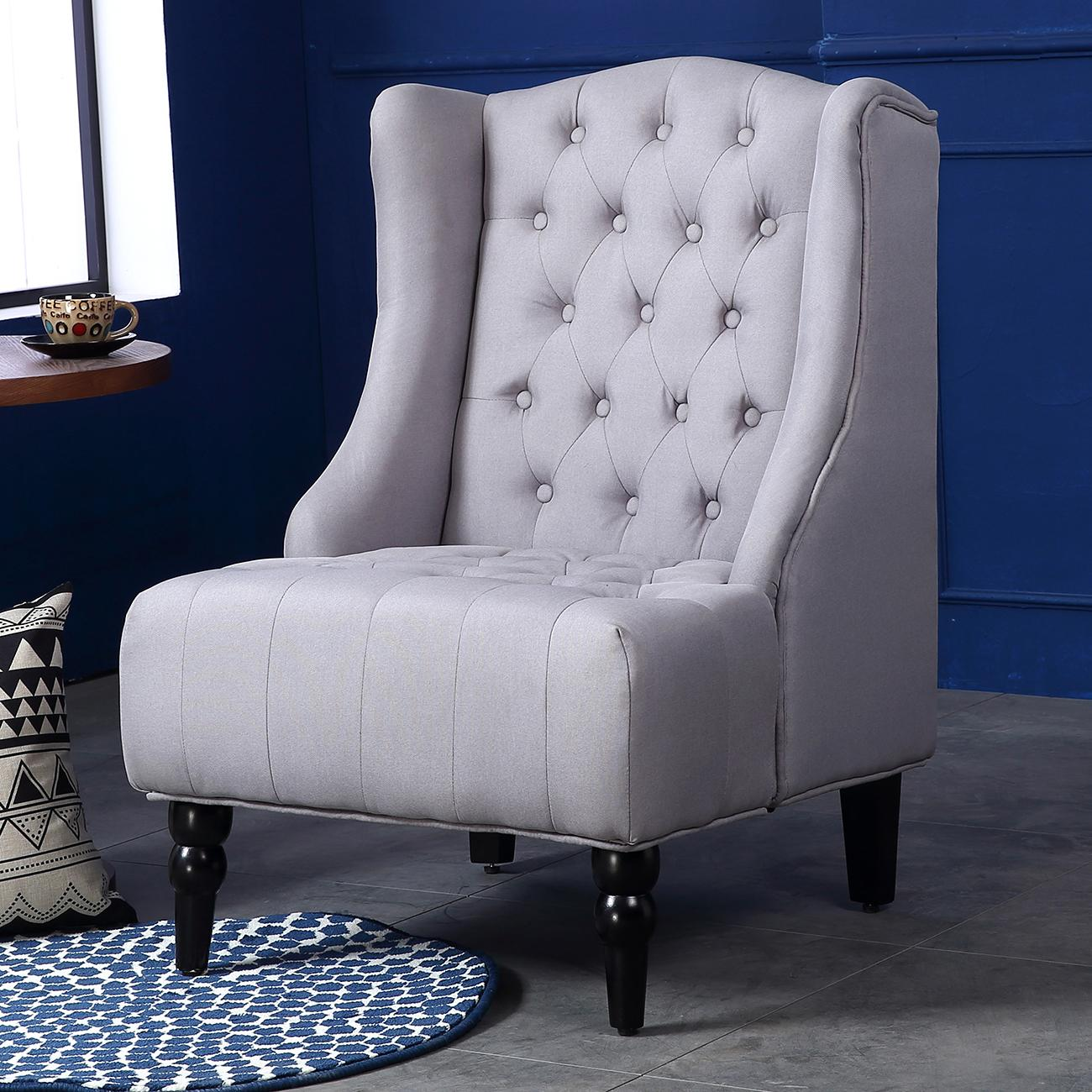 Amazon.com: Belleze Modern Wingback Tufted NailHead Accent