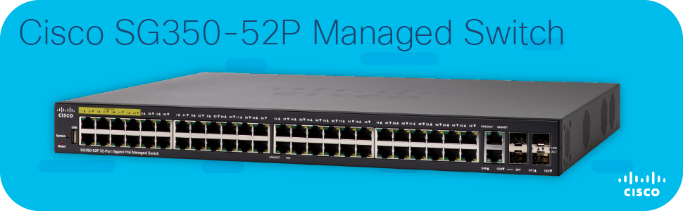Cisco SG350-52P Managed Switch