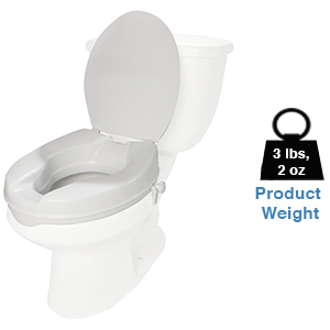 Pcp Molded Toilet Seat Riser With Lid White 2 Inch