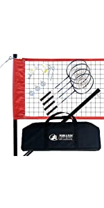 badminton, complete, outdoor, red, net, grass, outdoor, BM-SPORT, sport, steel