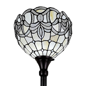 Tiffany Standing Floor Lamp Stained Glass Antique Vintage Light Bedroom Living Room Reading Antique
