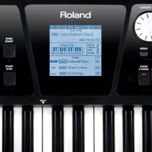 Roland; BK-5; Backing keyboard; midi keyboard