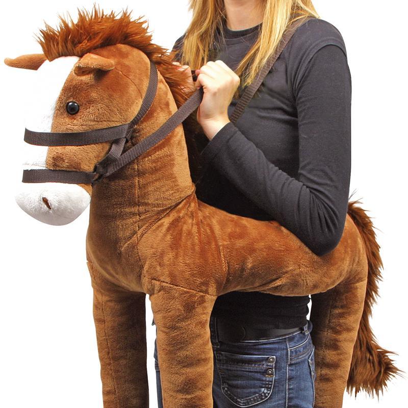 umh nge pferd maxi hochwertiges pl schtier pferd f r kinder und erwachsene faschingskost m. Black Bedroom Furniture Sets. Home Design Ideas
