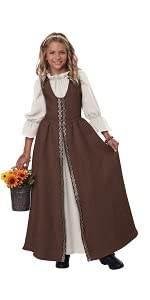 Renaissance Dress, Girl's Costume, Costume for Girls, Ren Faire, Medieval, Pirate, Milk Maid, Cute