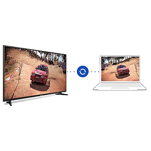 Laptop connected to the Samsung 4K UHD TV via Bluetooth