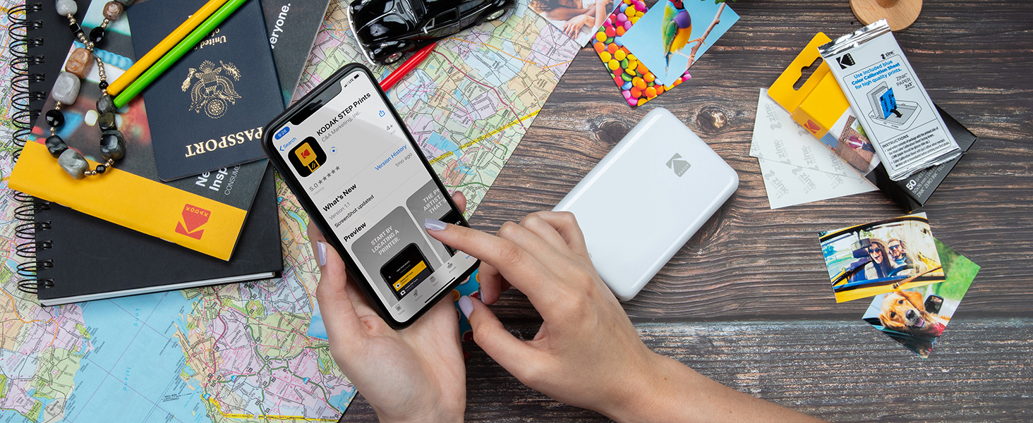 kodak step printer app zink