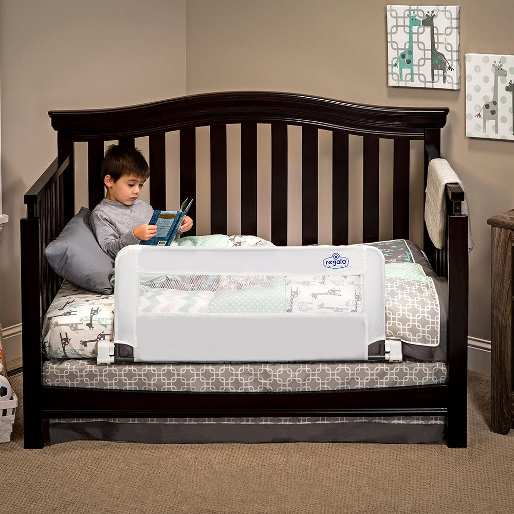 Regalo Swing Down Extra Long Convertible Crib Toddler Bed