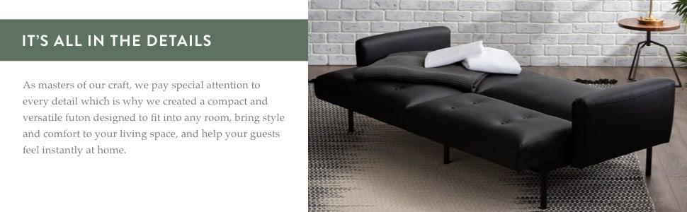 versatile futon comfortable couch