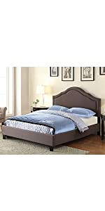 trespass slate, queen, upholstered bed, all-in-one bed, pulaski