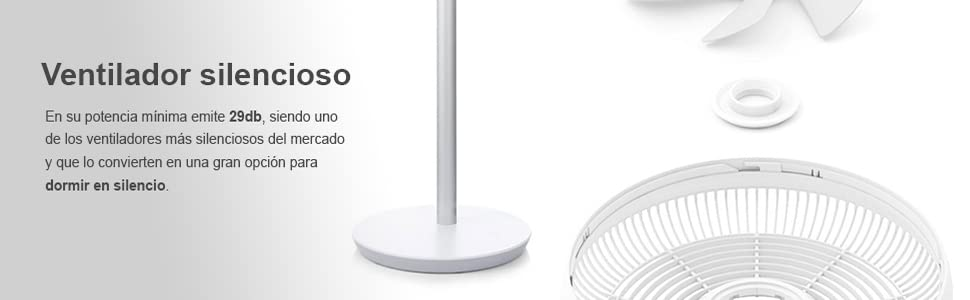 Xiaomi Ventilador Inteligente inalámbrico, Metal, Blanco, Unico ...