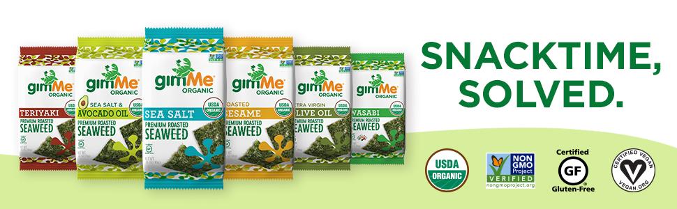 gimMe Roasted Seaweed Snacks - Sea Salt