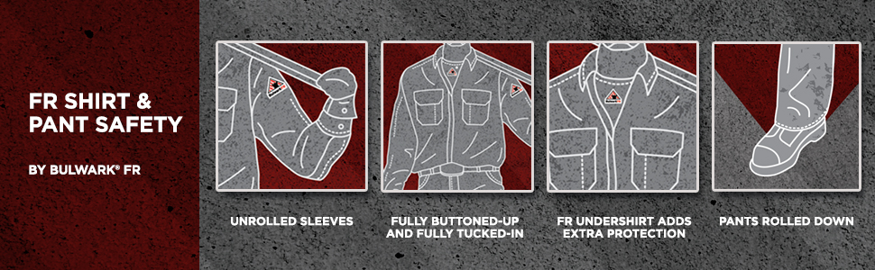 Bulwark, bulwark fr, flame resistant clothing, how to wear, fr clothing, protection, fr pants